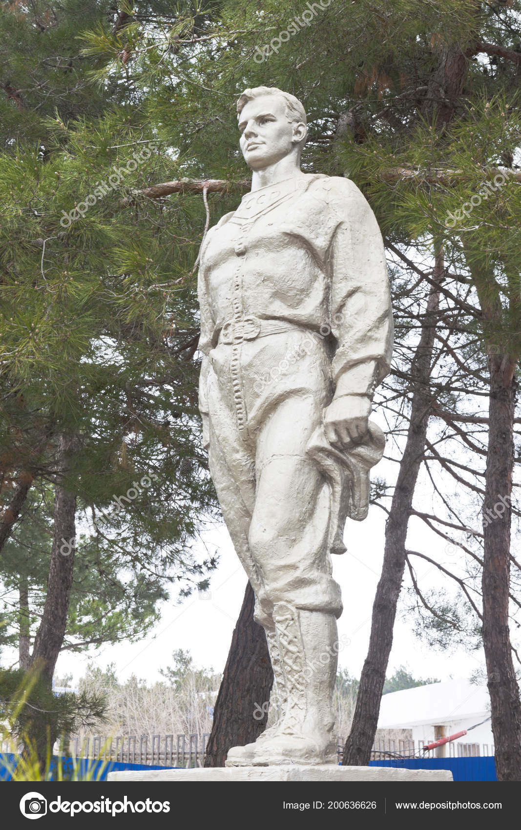 Anapa Krasnodar Region Russia March 2018 Monument Yuri