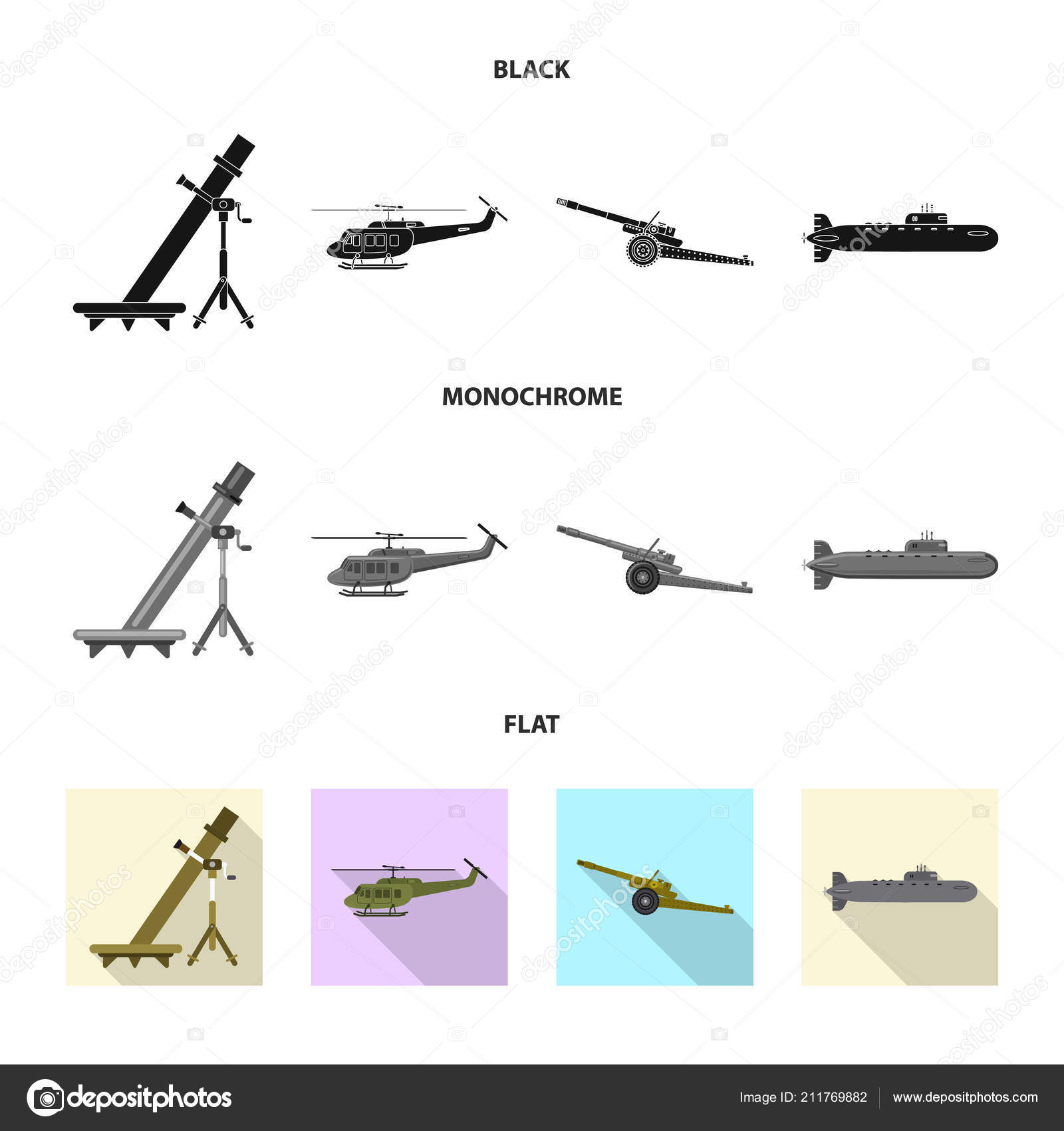 Vector Illustration Of Weapon And Gun Logo Collection Of Weapon And
