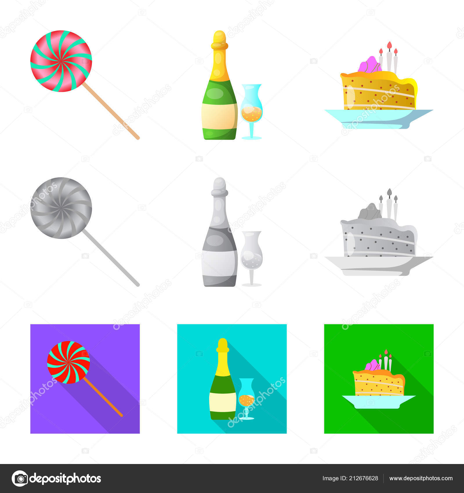Vector Illustration Of Party And Birthday Icon Set Of Party And