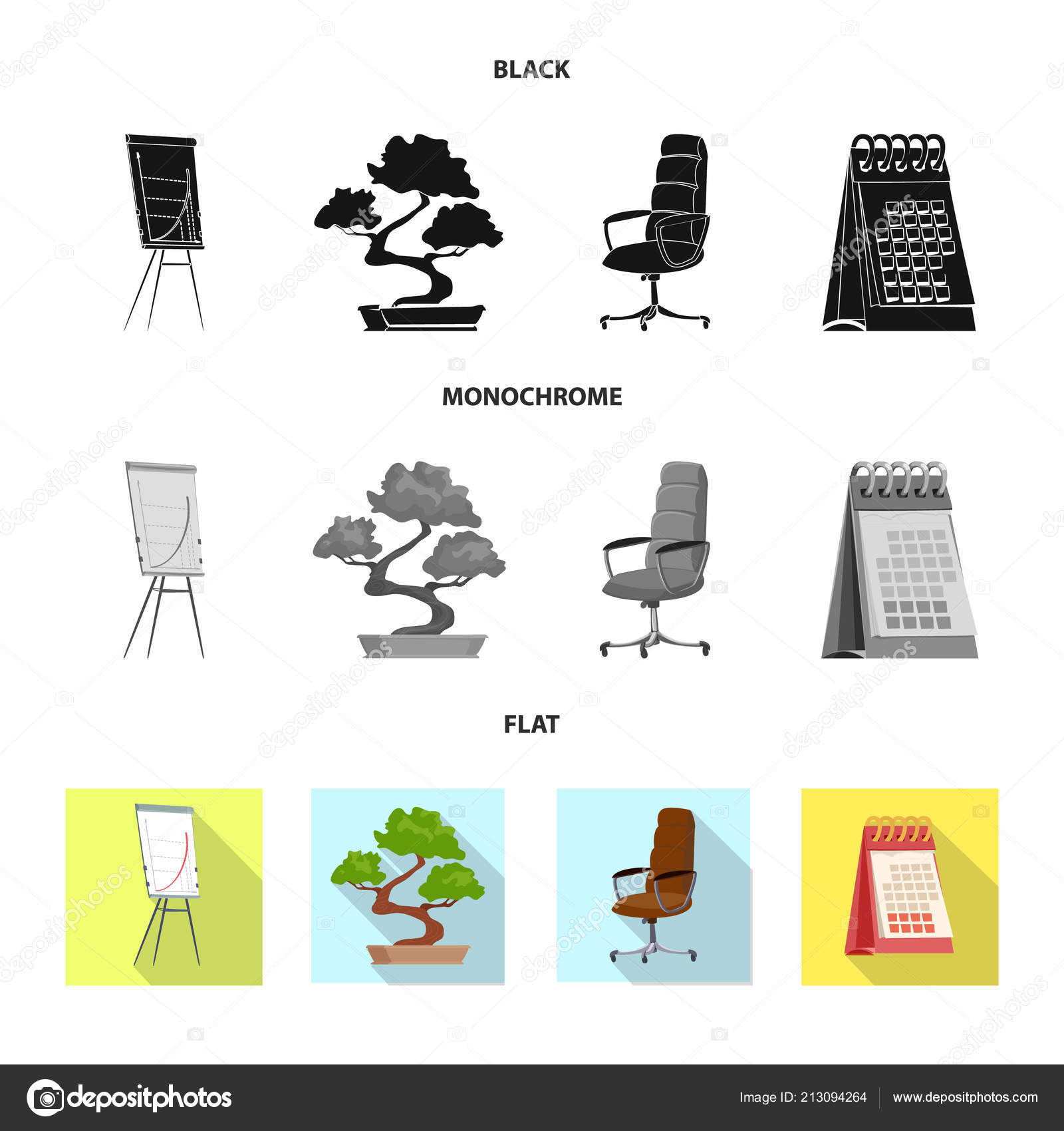 Vector Design Of Furniture And Work Sign Collection Of Furniture