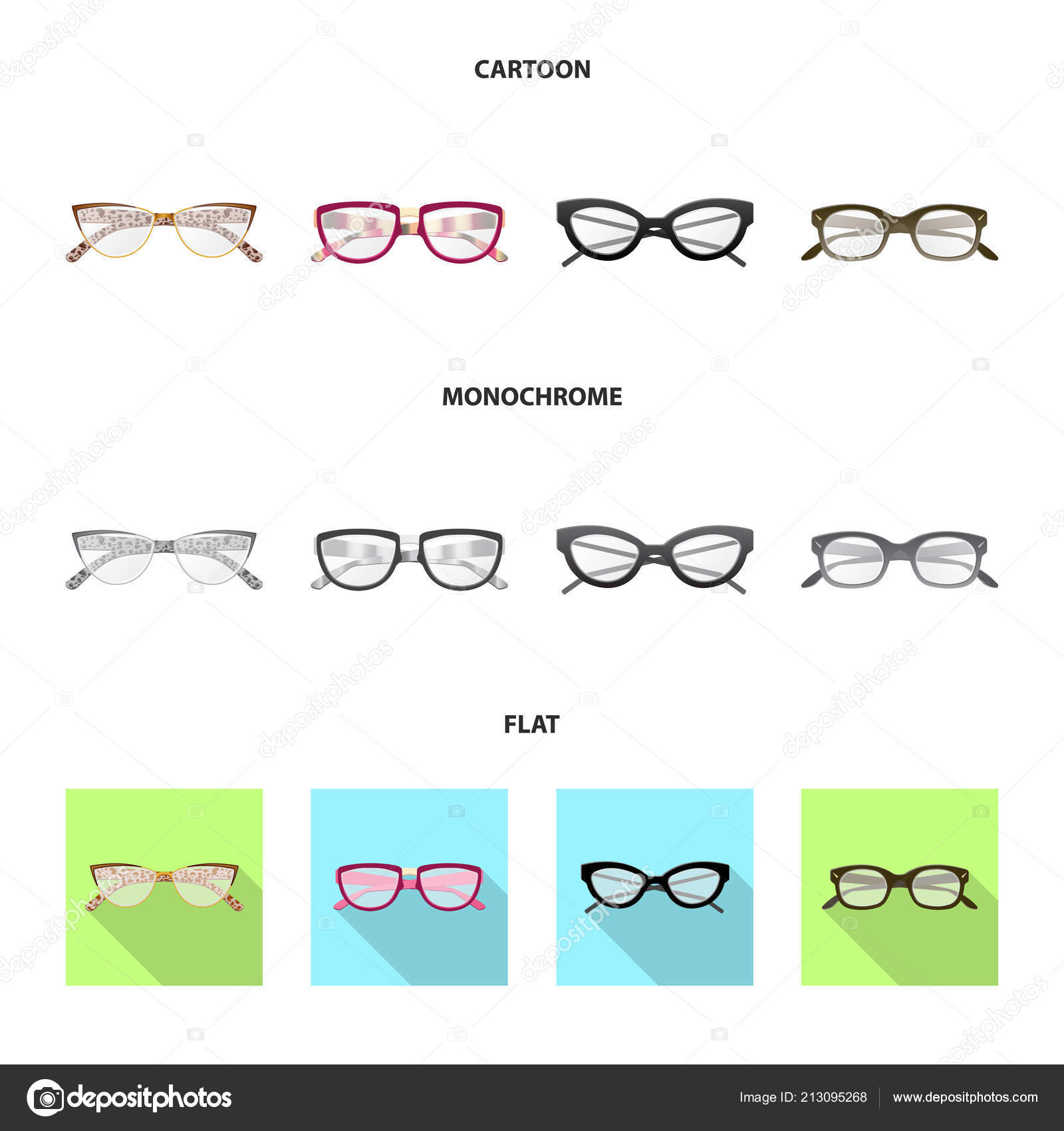 aa089a957007 stock illustration. Vector design of glasses and frame logo. Collection of  glasses and accessory vector icon for