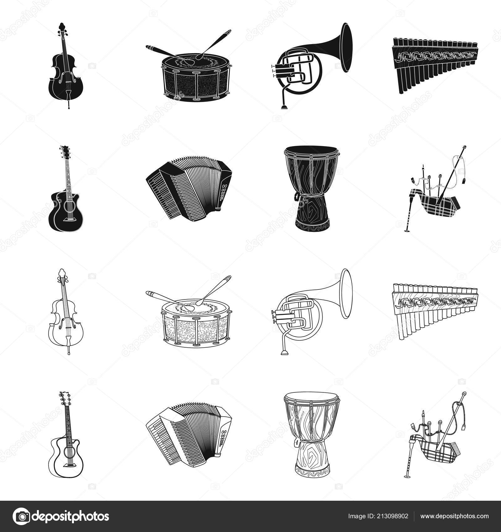 Vector Design Of Music And Tune Sign Set Of Music And Tool Stock