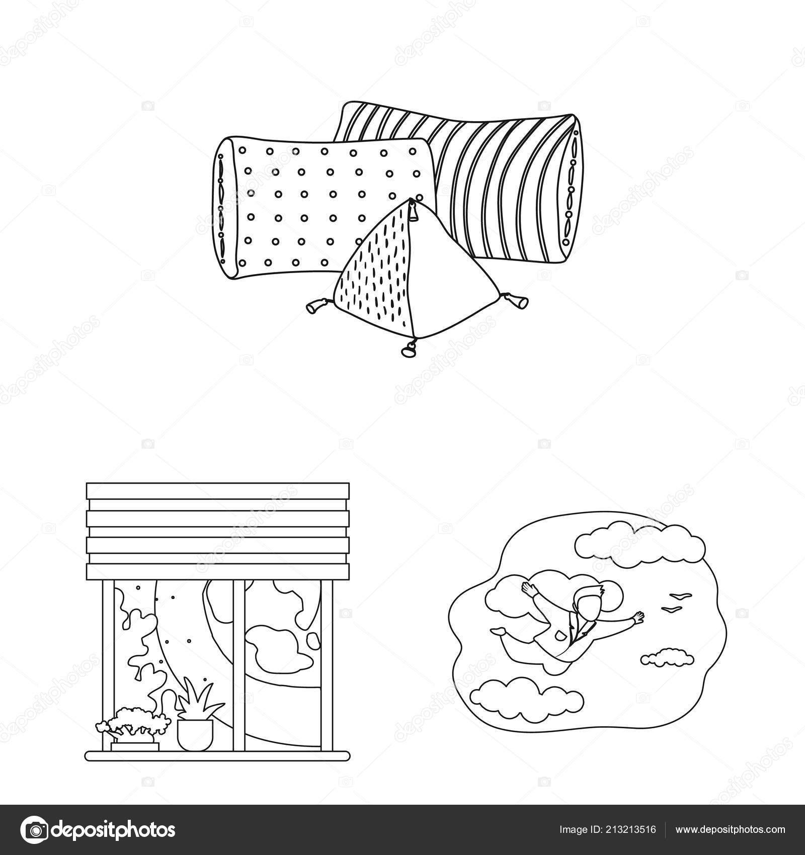 Vector Design Of Dreams And Night Icon Set Of Dreams And Bedroom