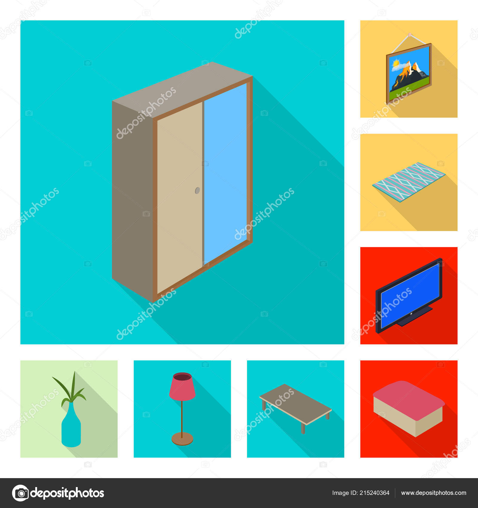 Vector Illustration Of Bedroom And Room Logo Set Of Bedroom And