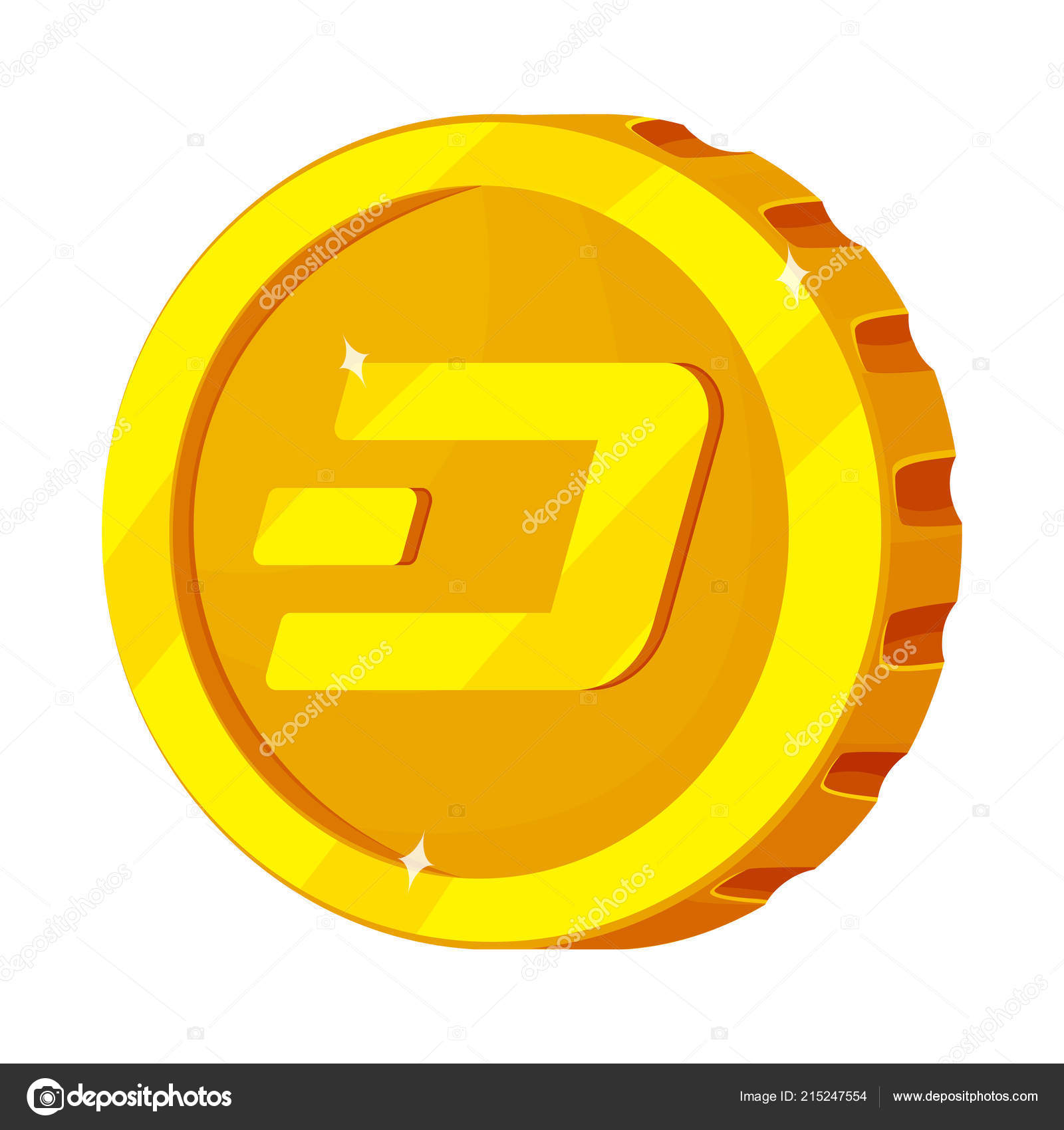 Isolated Object Of Cryptocurrency And Coin Logo Collection Of