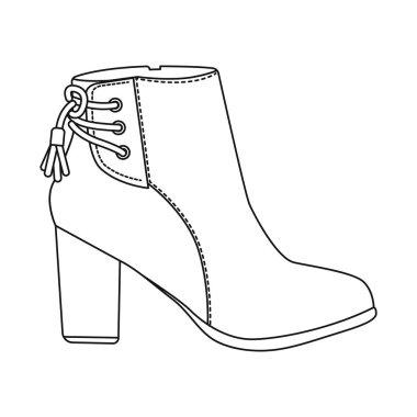 Vector design of footwear and woman symbol. Collection of footwear and foot vector icon for stock.