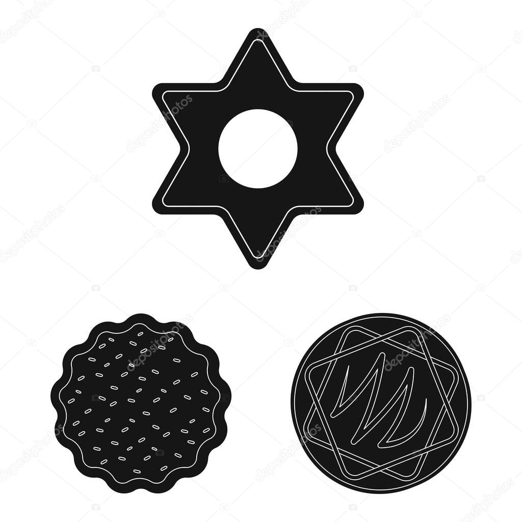 Vector design of biscuit and bake logo. Set of biscuit and chocolate vector icon for stock.