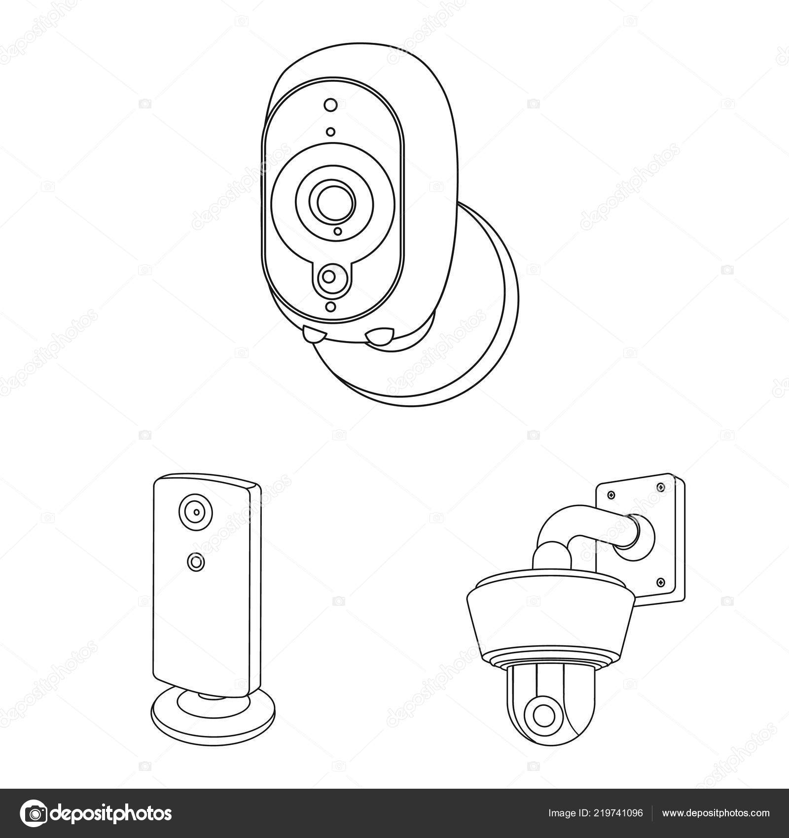 vector design of cctv and camera logo set of cctv and system stock Logitech Web Camera vector design of cctv and camera logo set of cctv and system stock symbol for