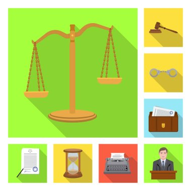 Vector design of law and lawyer symbol. Collection of law and justice stock symbol for web.