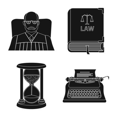 Isolated object of law and lawyer icon. Set of law and justice stock symbol for web.
