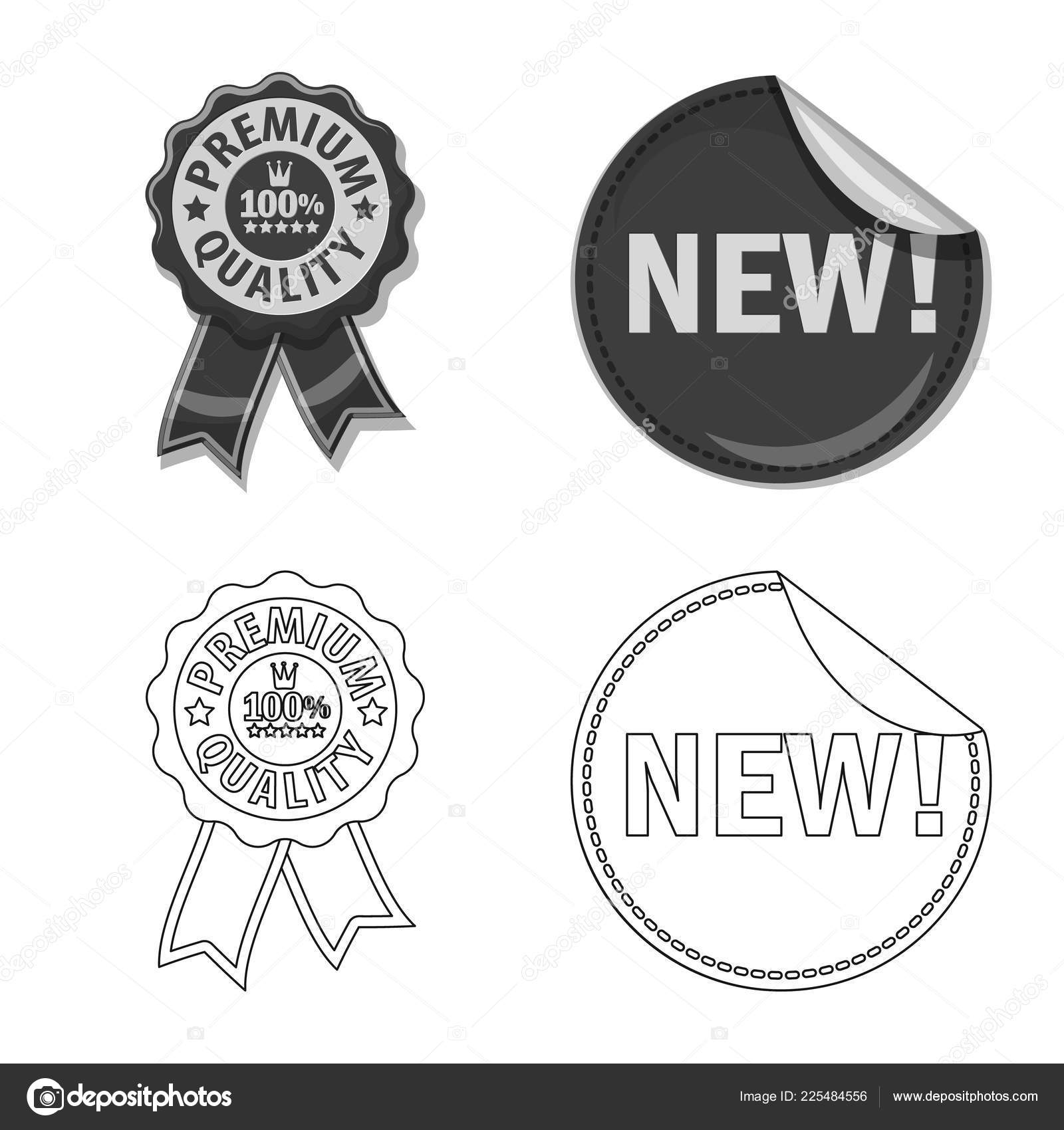 Vector Illustration Of Emblem And Badge Icon Set Of Emblem And