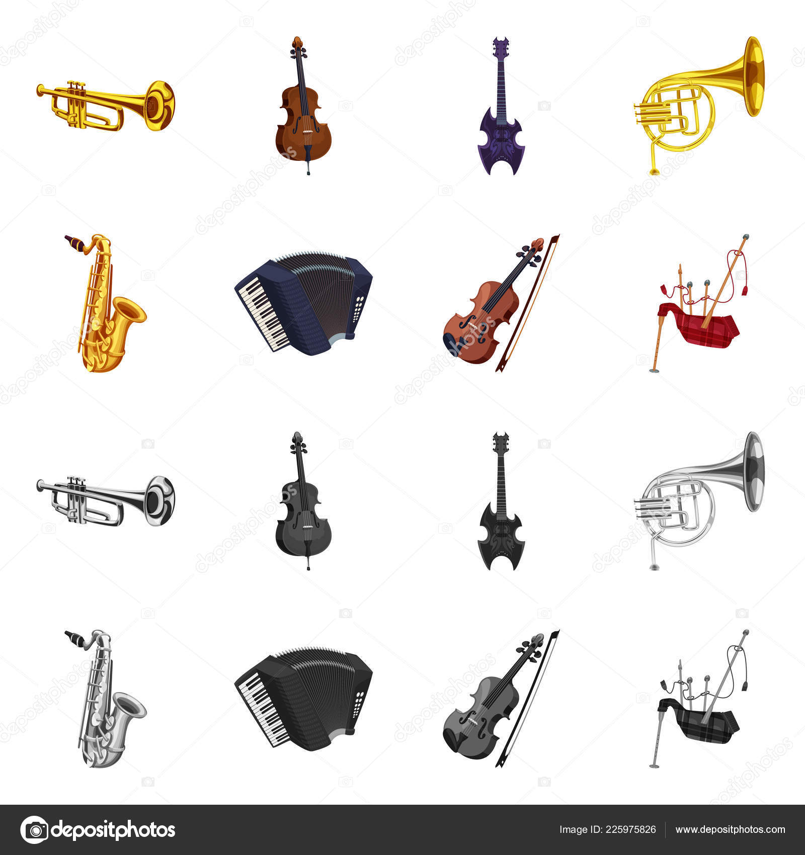 Isolated Object Of Music And Tune Sign Collection Of Music And Tool