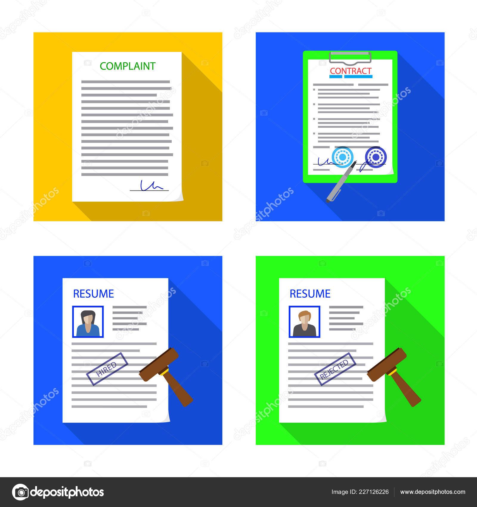 Isolated Object Form Document Icon Set Form Mark Stock Symbol