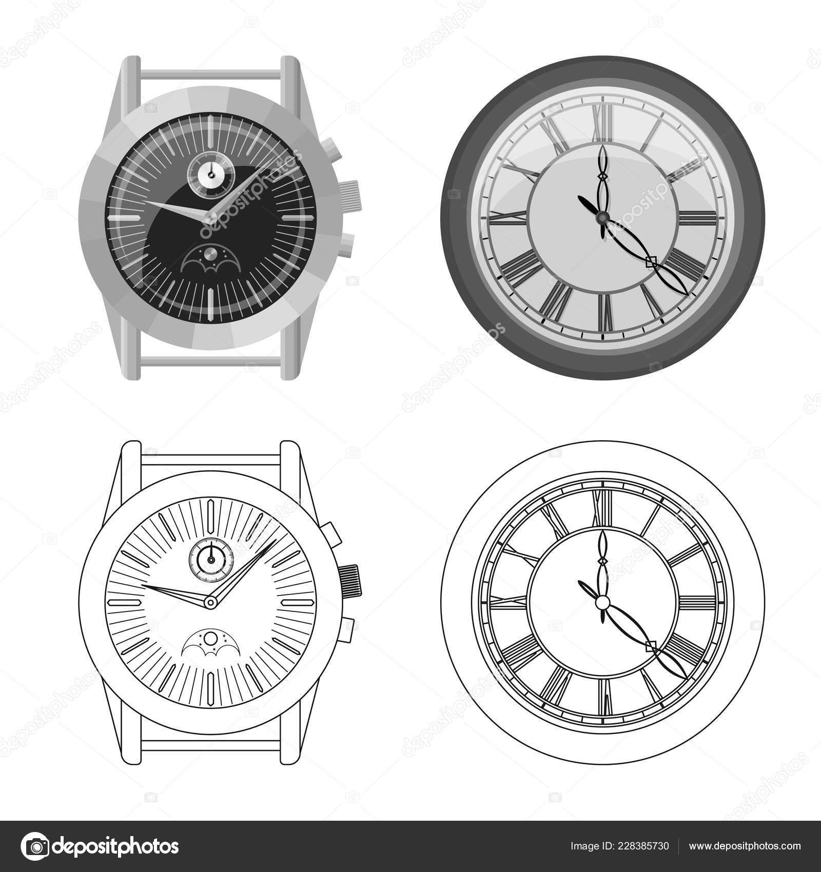 f3720802d395 Objeto aislado del icono del reloj y el tiempo. Colección de icono de  vector de