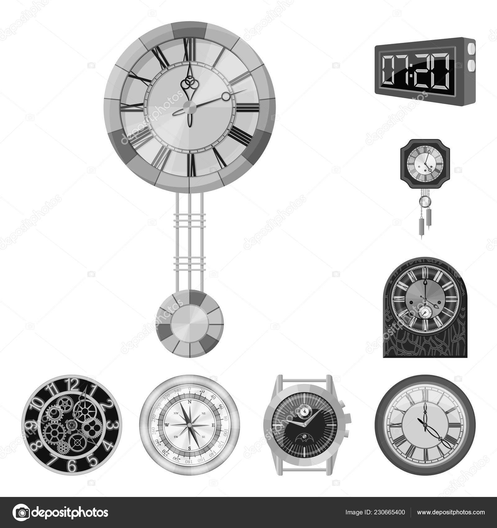 d4b956bf107b Diseño vectorial del logotipo de reloj y tiempo. Colección de ilustración  vectorial de stock reloj y círculo — Vector de magicleaf