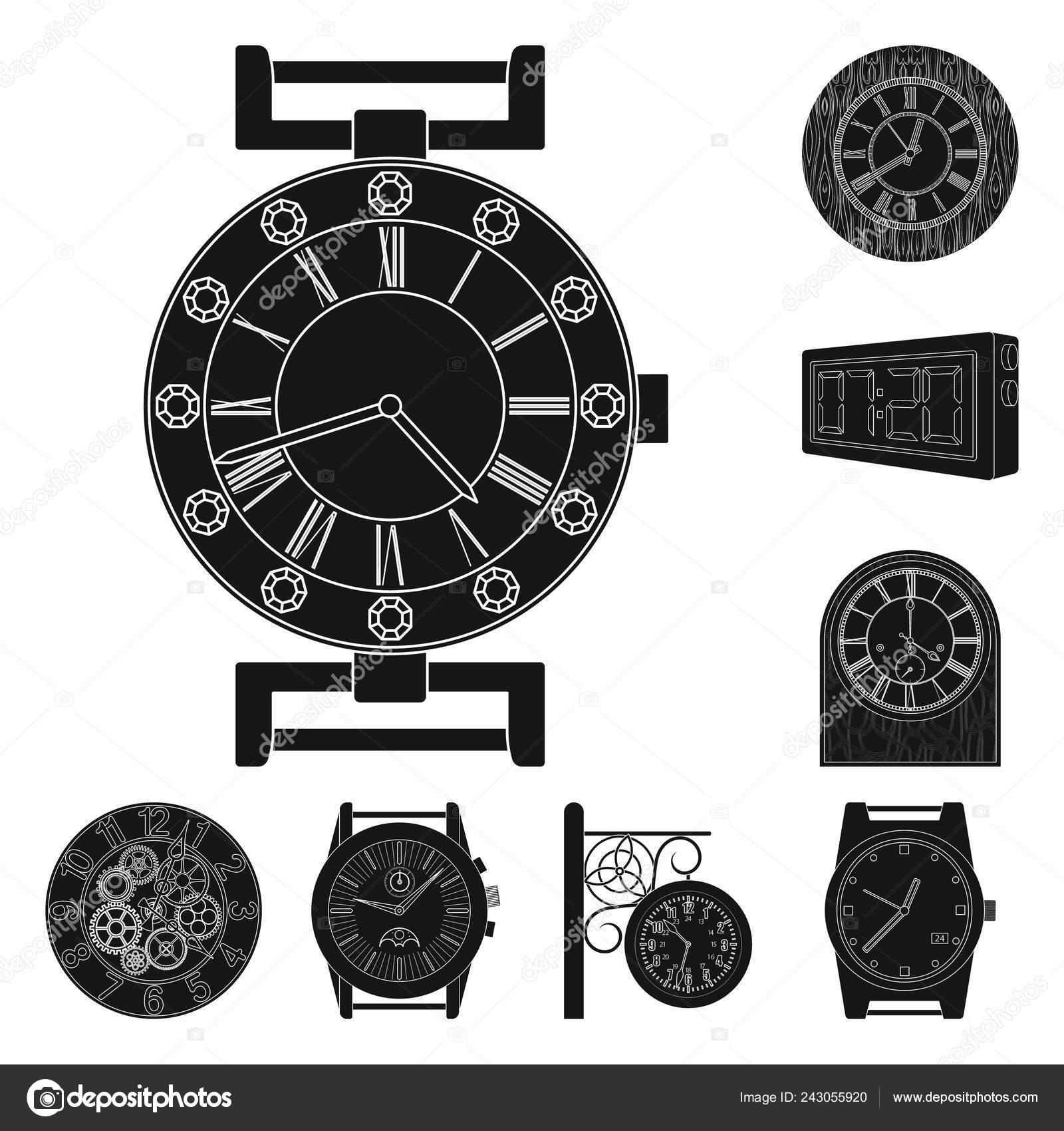 4c4c17d4c829 Diseño vectorial del logotipo de reloj y tiempo. Colección de icono de  vector de reloj y círculo para la acción — Vector de ...