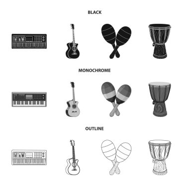 Isolated object of music and tune icon. Collection of music and tool stock symbol for web.