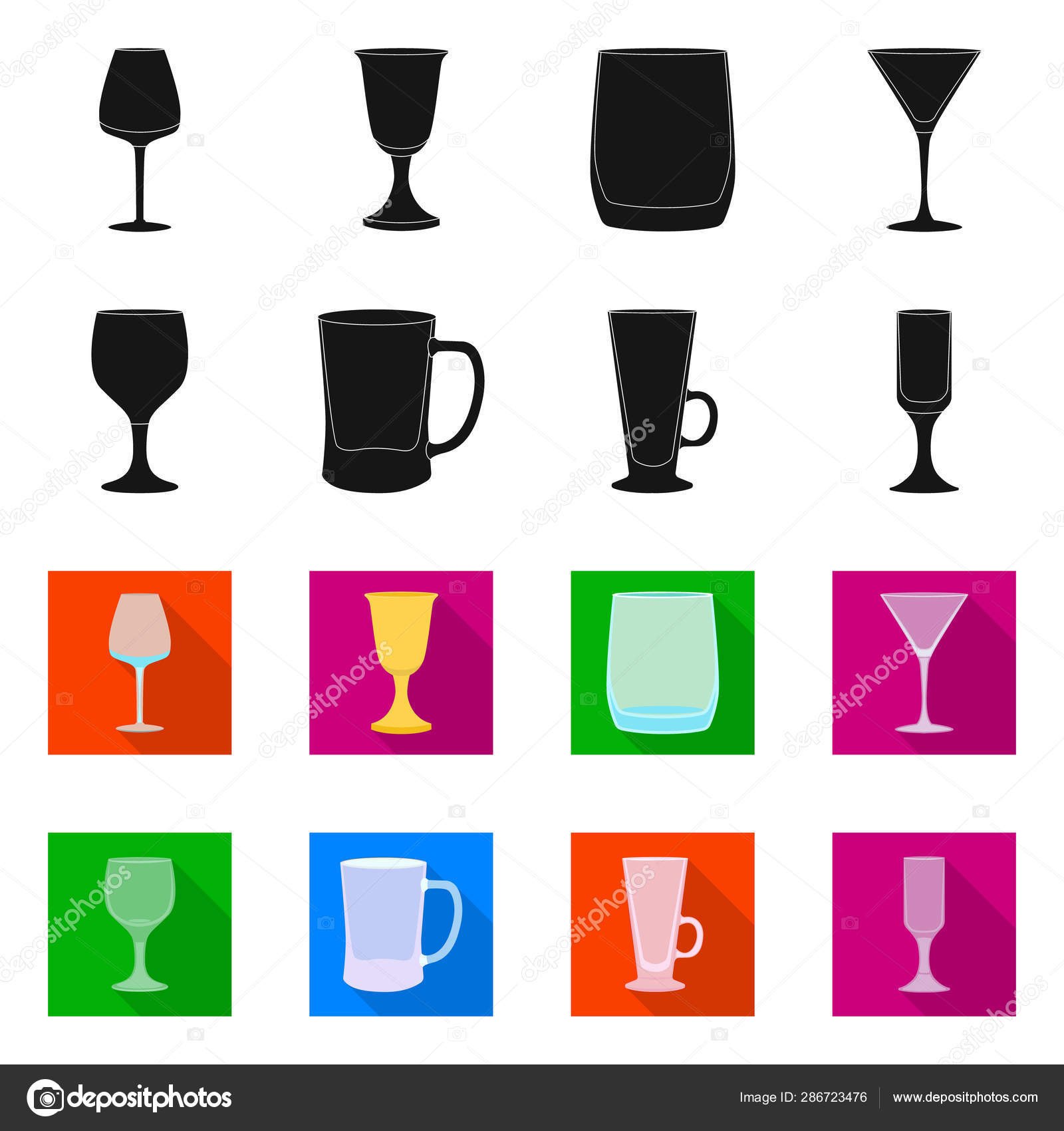 Vector illustration of form and celebration icon  Set of form and