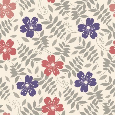 Seamless pattern with the image of flowers.