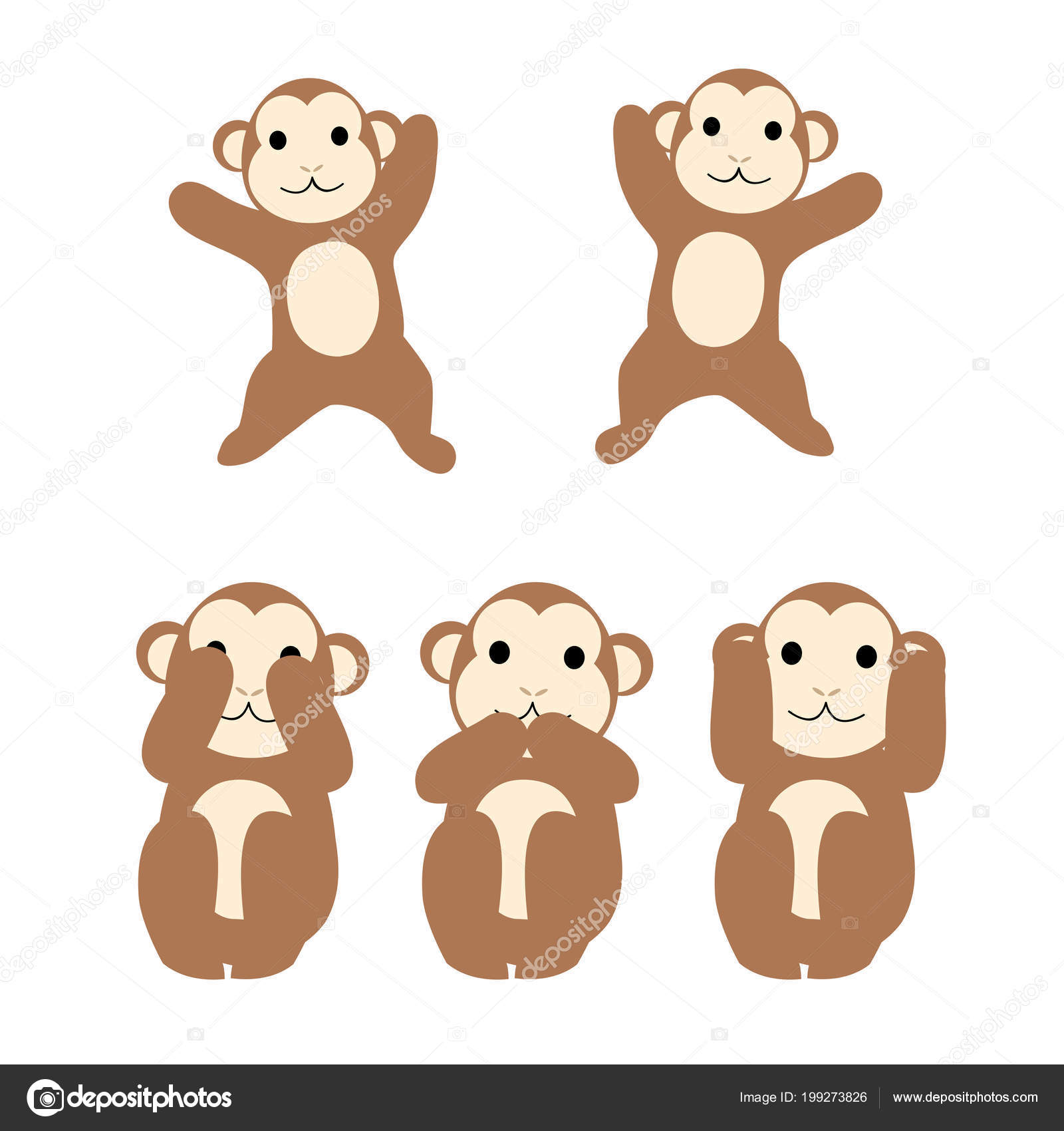 2 dancing monkeys do not say no need to say no objections pose monkey vector by hichako