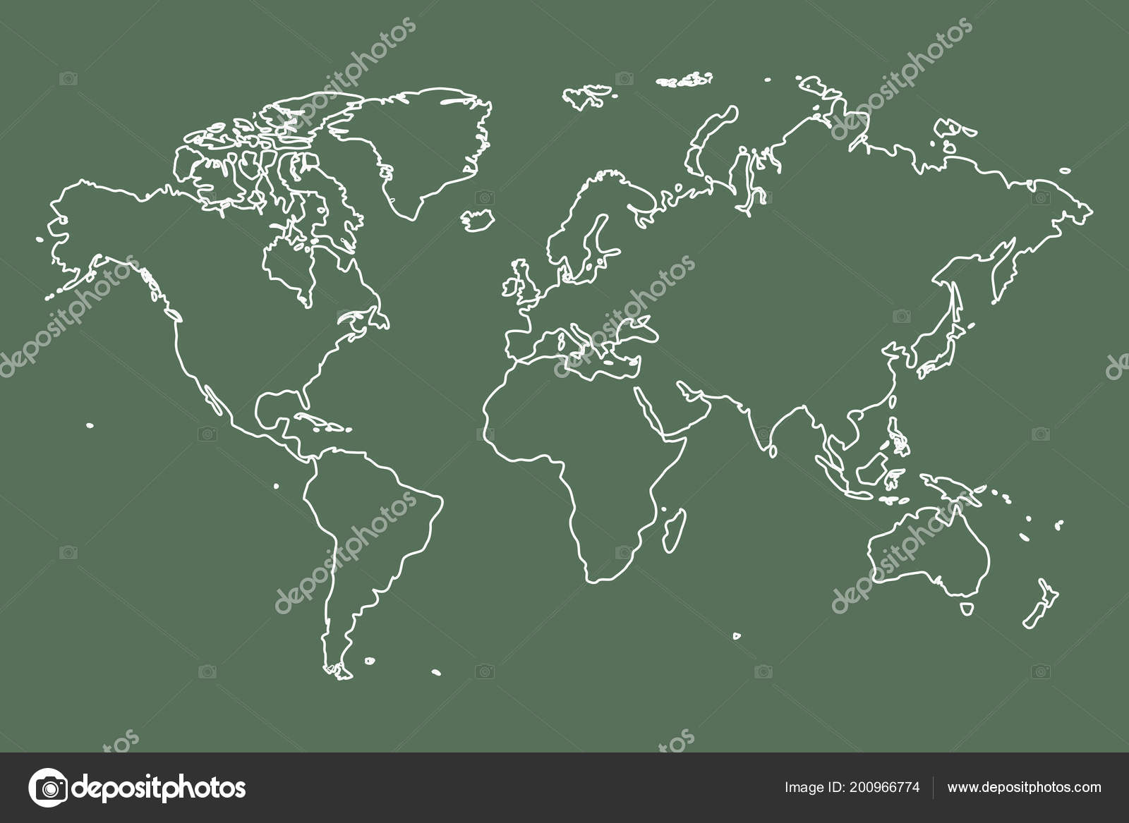 Chalk board style world map archivo imgenes vectoriales hichako chalk board style world map vector de hichako gumiabroncs Images