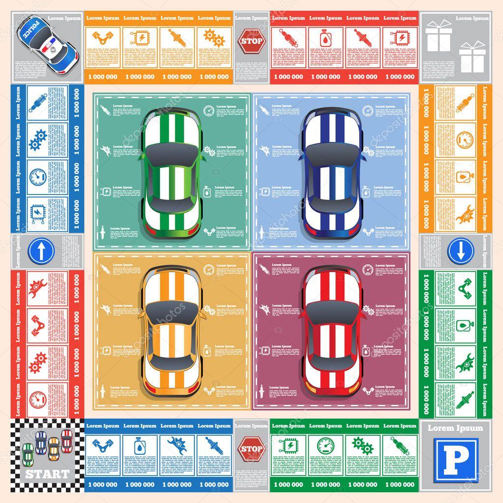 Car Repair Board Game Vector Design For App Game User Interface Premium Vector In Adobe Illustrator Ai Ai Format Encapsulated Postscript Eps Eps Format