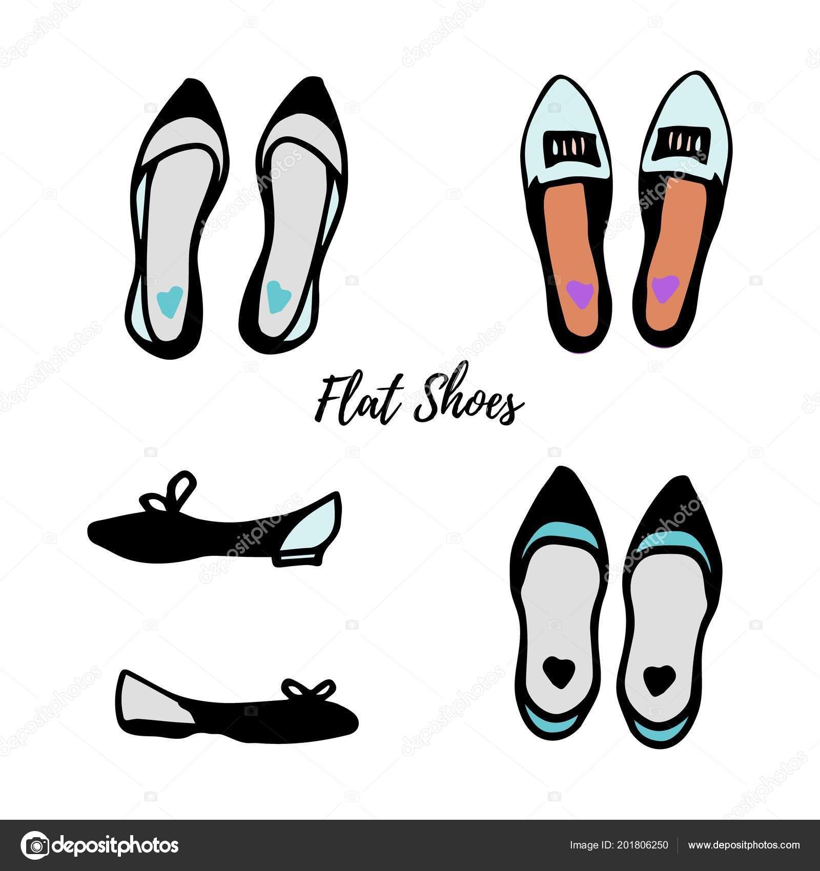 Las De ColorColección Dibujo Zapatos MujeresPisos Tinta D2WE9IH