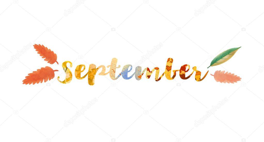 Надпись сентябрь картинка, открытки