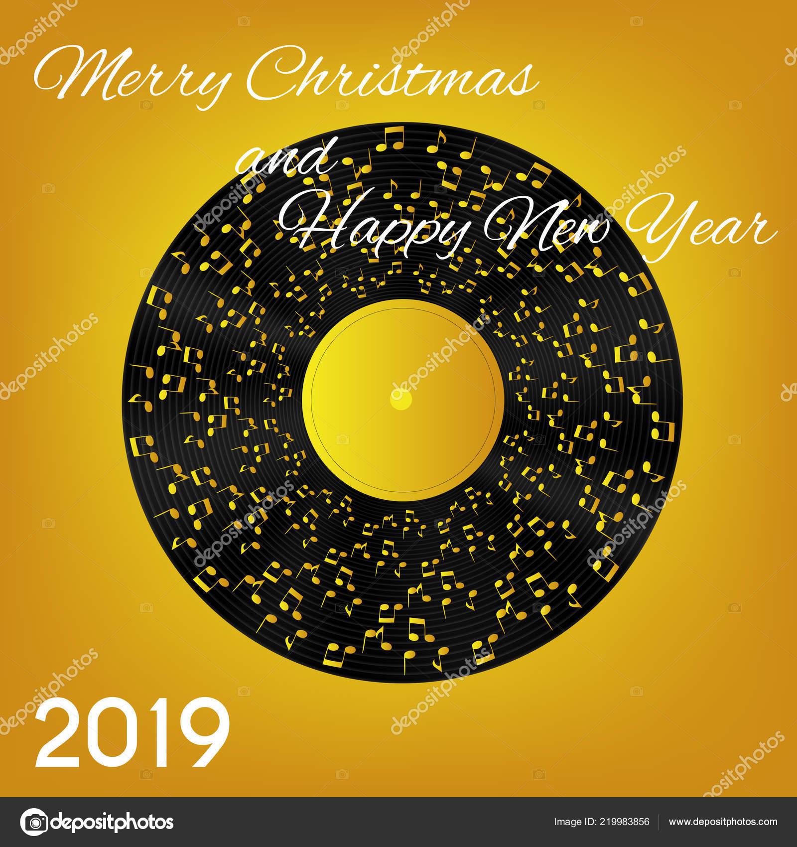 Frohe Weihnachten Musik.2019 Frohes Neues Jahr Und Frohe Weihnachten Auf Abstrakte Musik