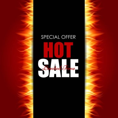 Hot Sale Fire Background Template Vector Illustration