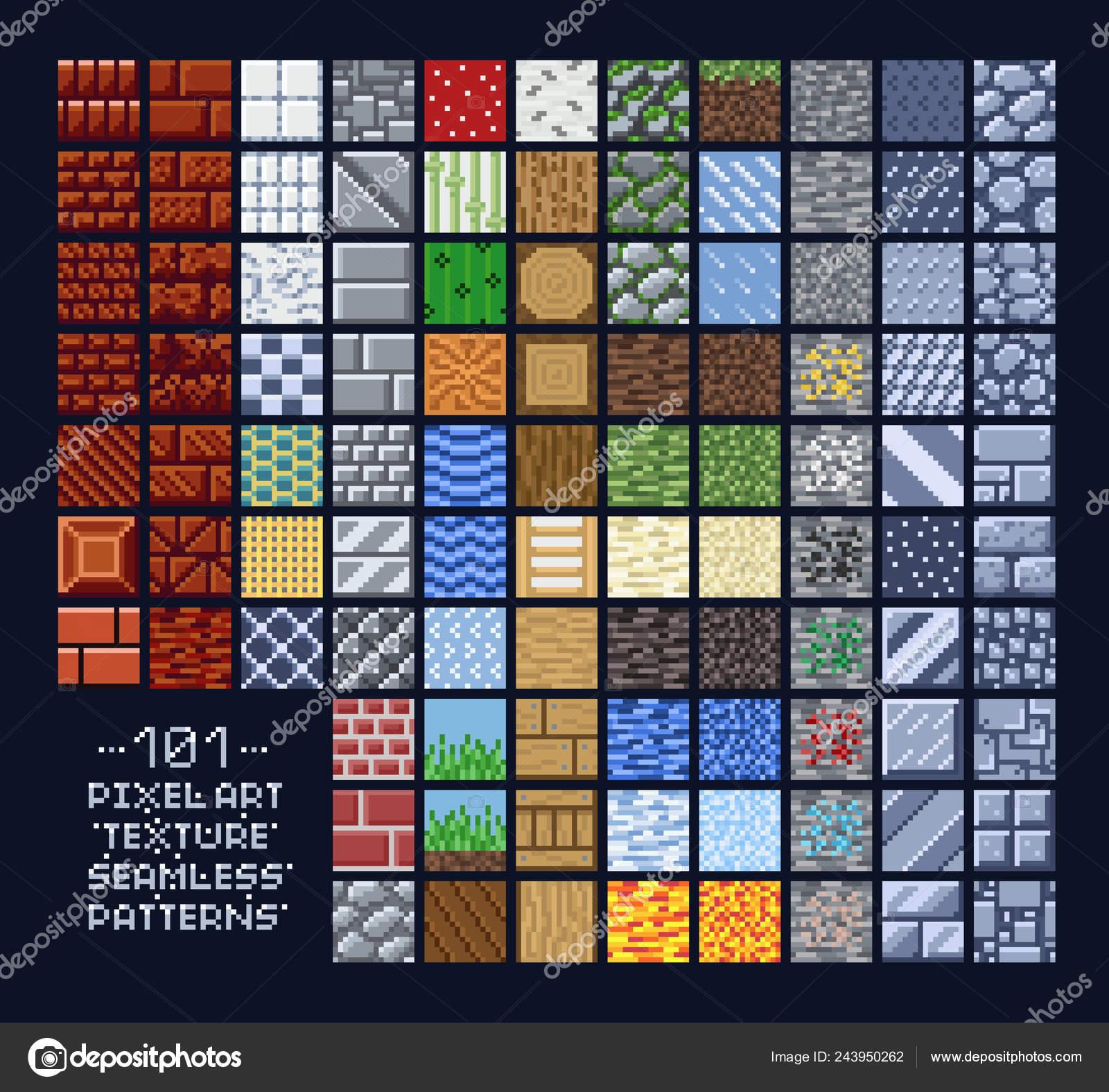 Jeu De Style Pixel Art De Sprites Modèle De Texture