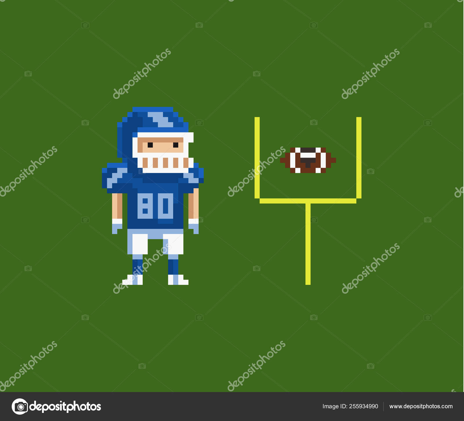 American Football Pixel Art Vector Pixel Art Illustration