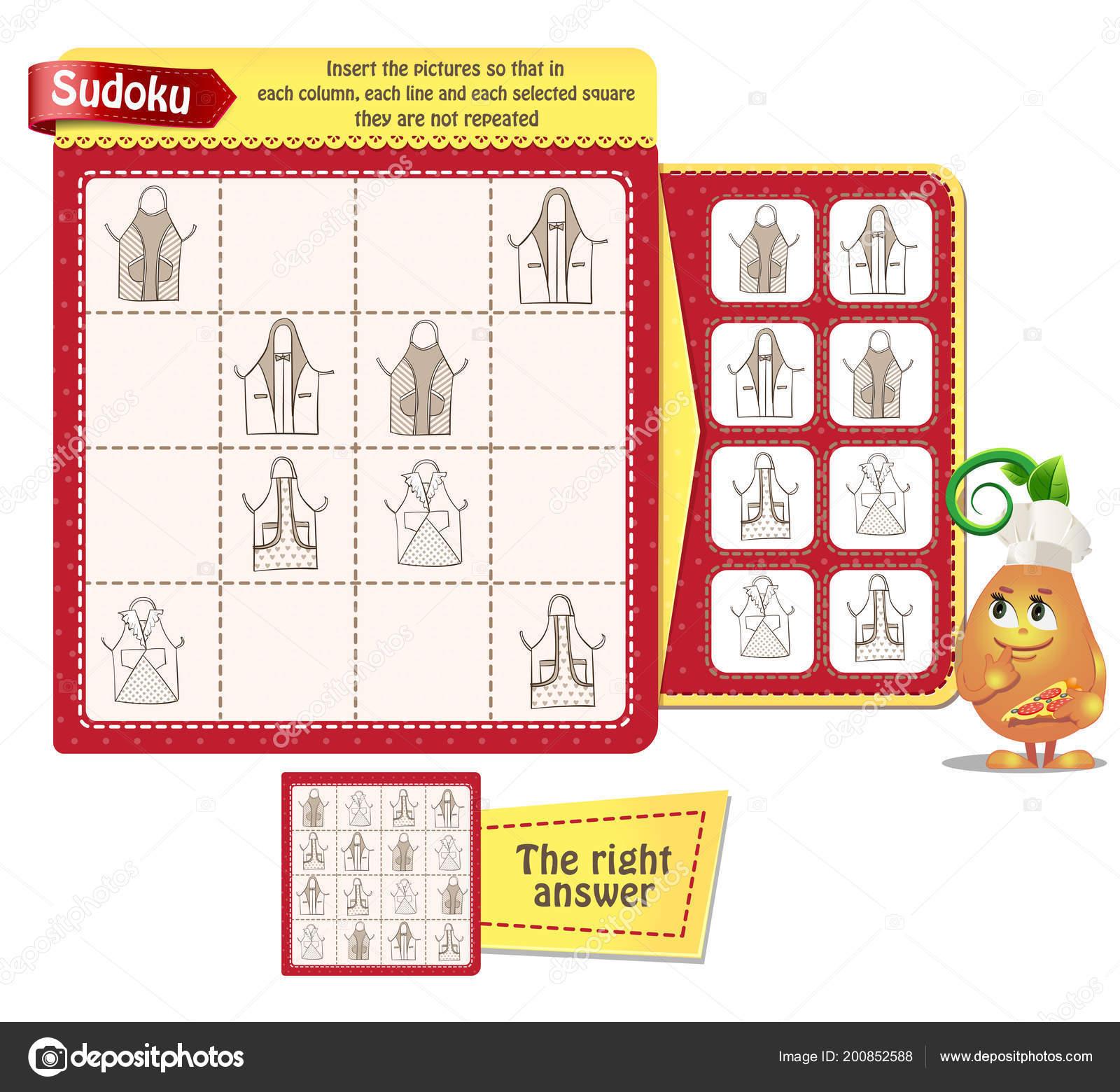 Sudoku Gry Dla Dzieci Dorosłych Zdjęcia Kuchnia Fartuchy