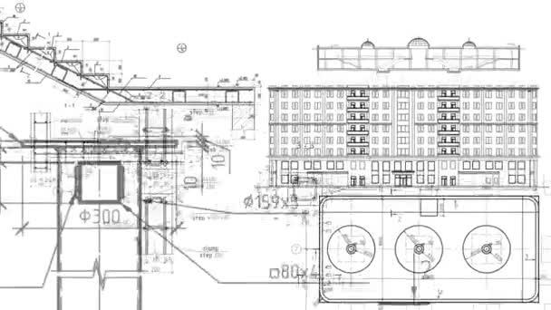 Stavební výkresy klouby plány schémata odhad pozadí budovy výpočet nákladů času smyčka