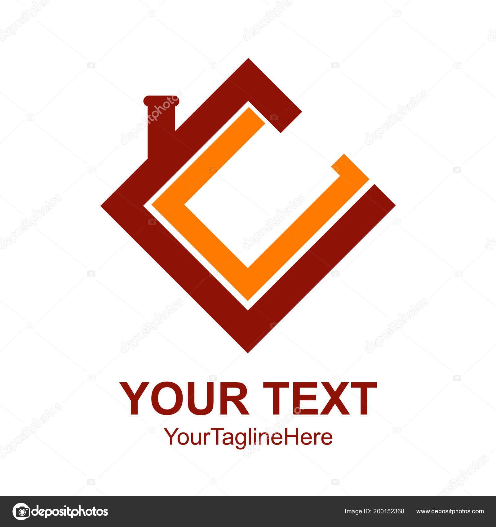 Letra Inicial Logo Diseño Plantilla Elemento Color Rojo Naranja ...