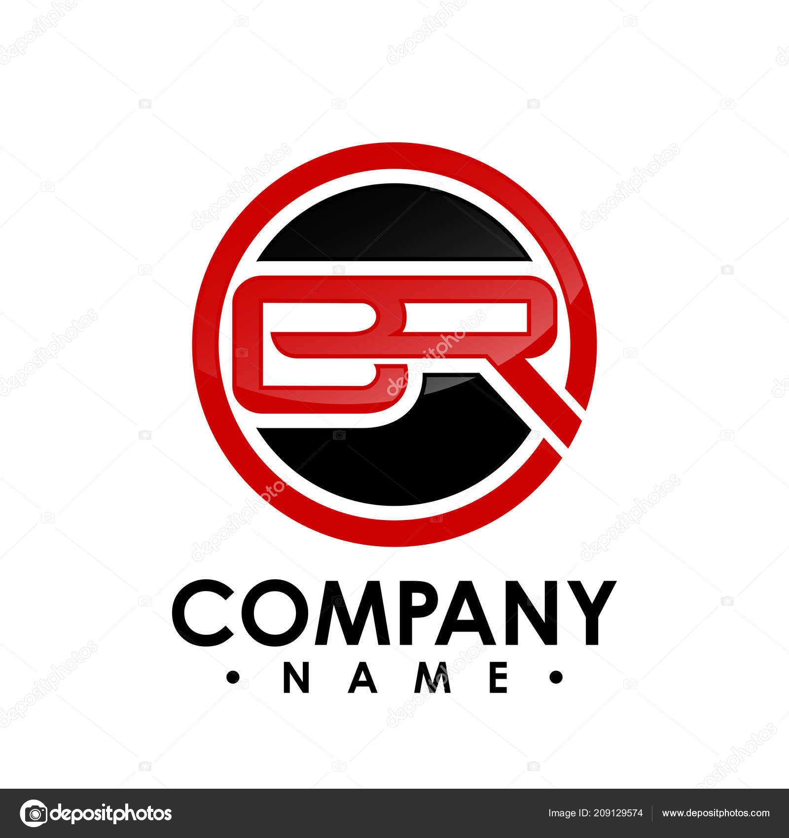 Brief Mit Kreis Form Logo Design Vektor Illustration Vorlage Brief
