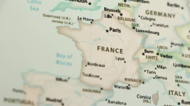 Map Of France Showing Lyon.France On A Political Map Of The World Video Defocuses Showing And Hiding The Map