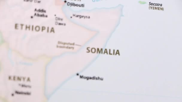 Somalia Political Map World Video Defocuses Showing Hiding Map
