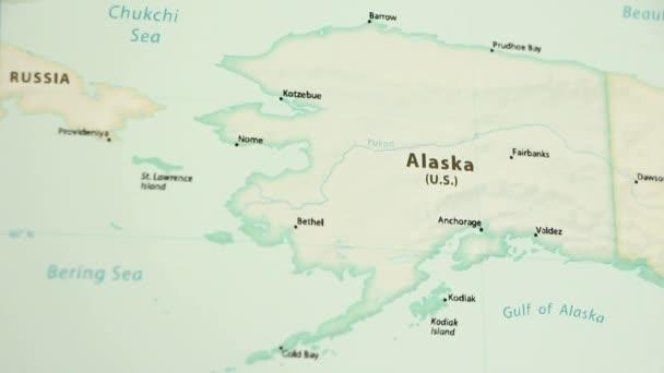 Alaska Dünya Siyasi Haritası üzerinde Video Gösterme Gizleme Harita