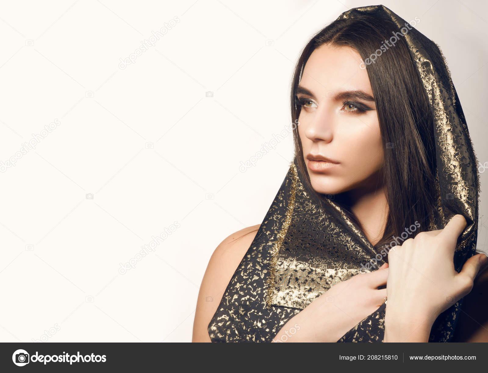 Arabian Style Portrait Androgynous Feminine Man Arabian