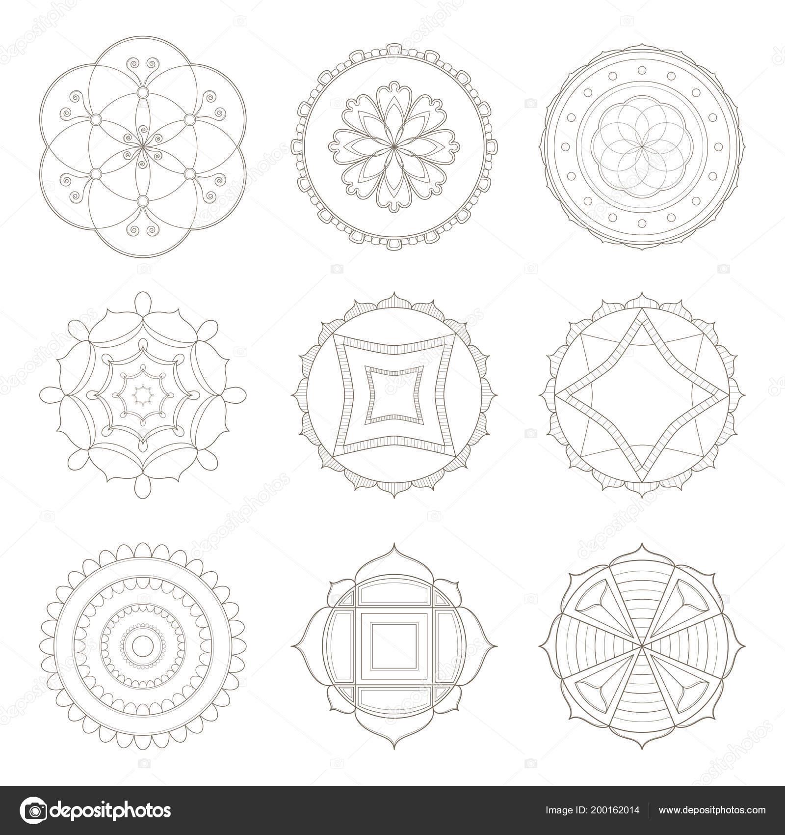 Simple Mandala Designs Collection Nine Simple Designs