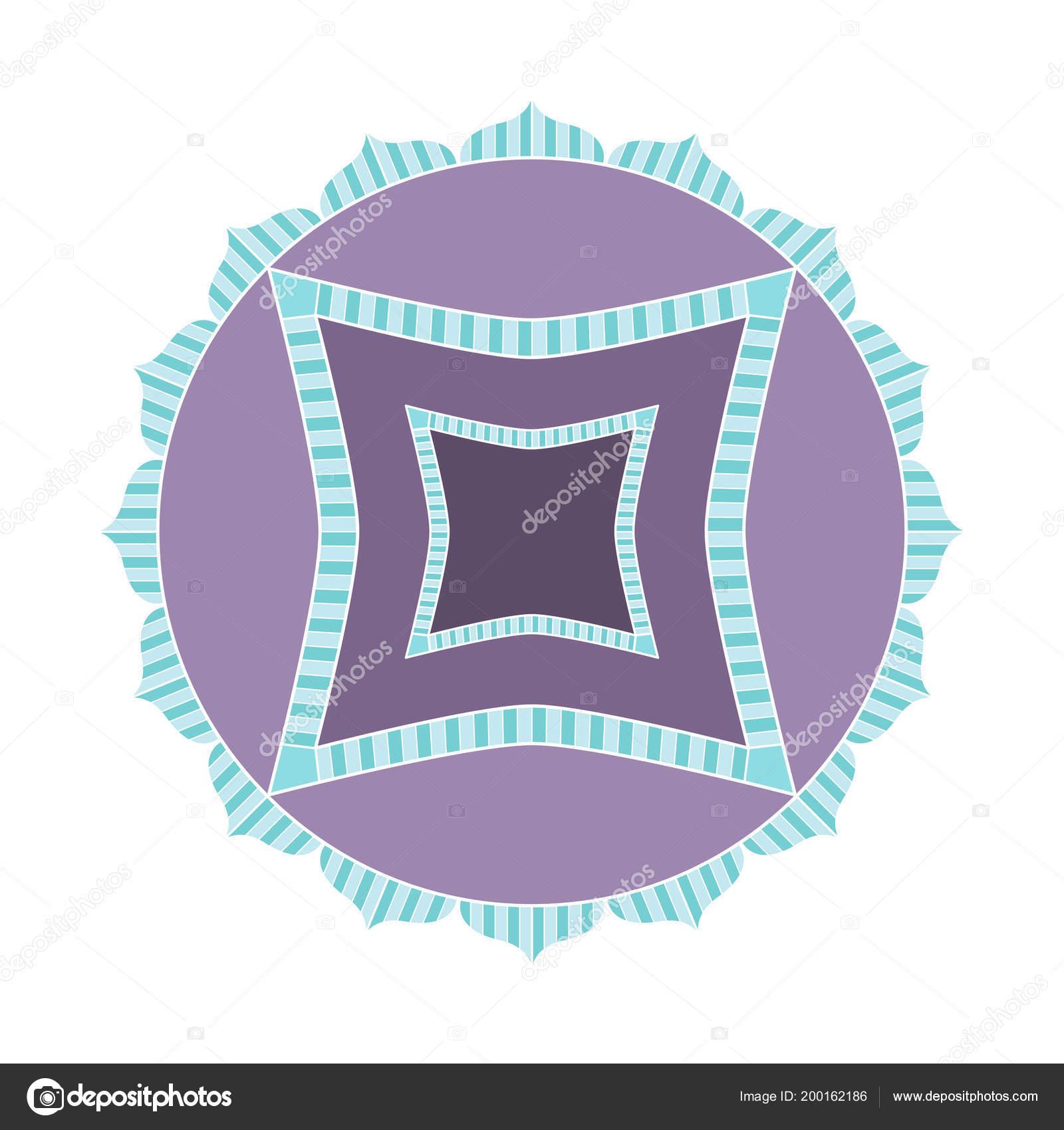 Simple Diseño Mandala Color Útil Para Libros Páginas Colorear Como ...