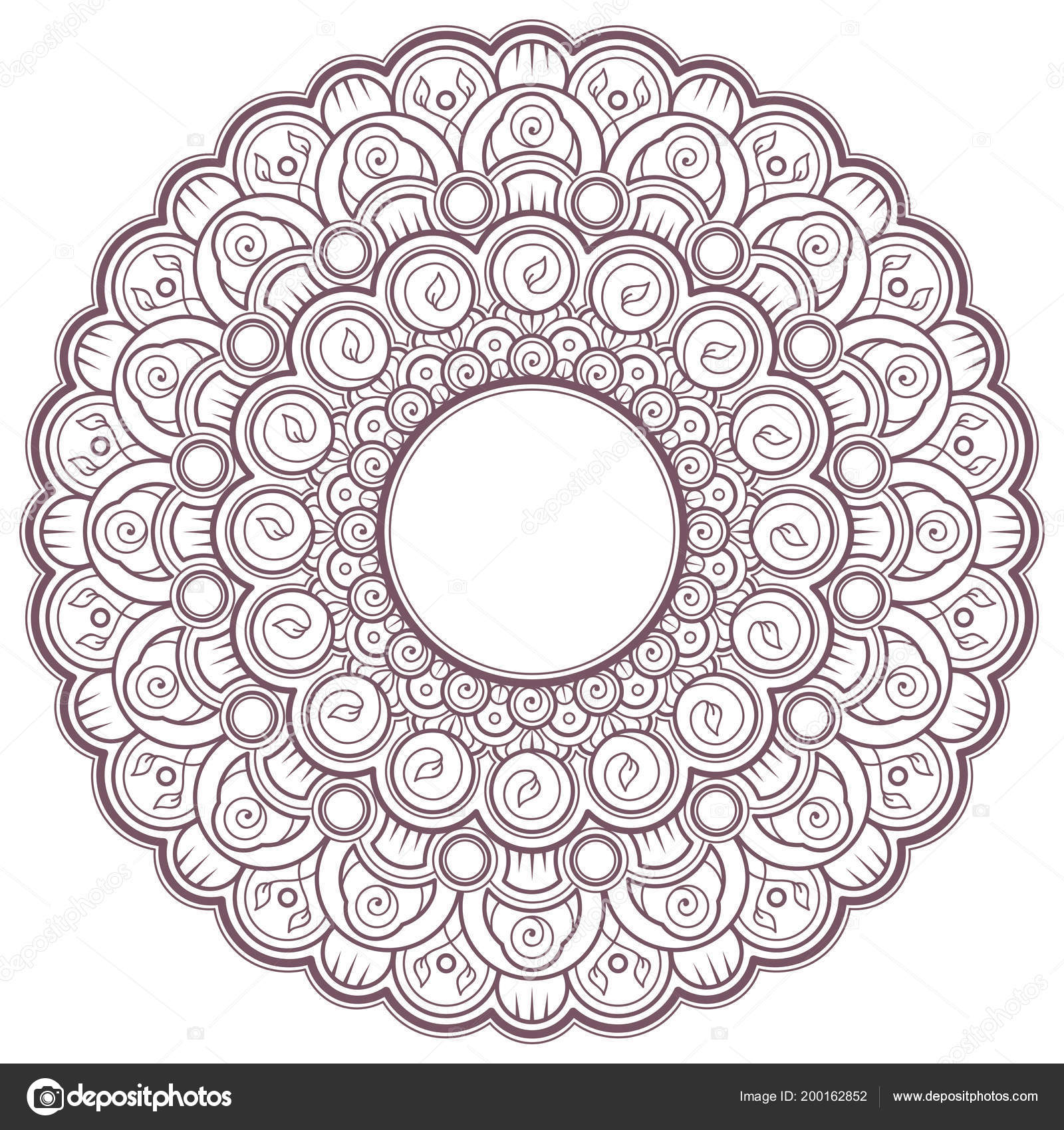 Line Art Circular Intricate Mandala Designed Coloring Pages Books