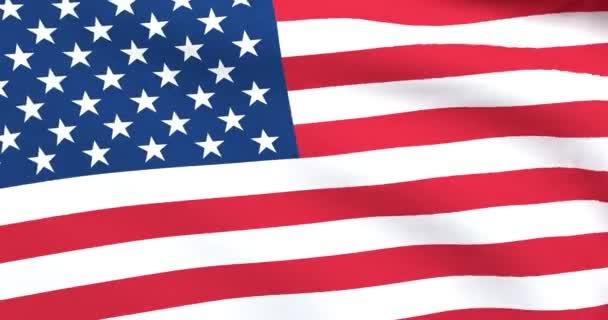 Plynulé animace vlající vlajky Spojených států amerických