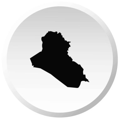 Country Shape Illustration of Iraq