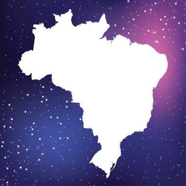 Country Shape Illustration of  Brazil