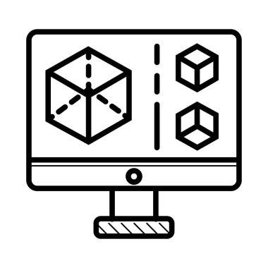 3d display icon illustration