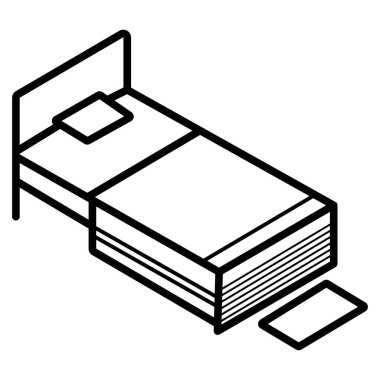 bedroom icon vector illustrator foto