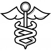 Caduceus icon. Medicine and health care
