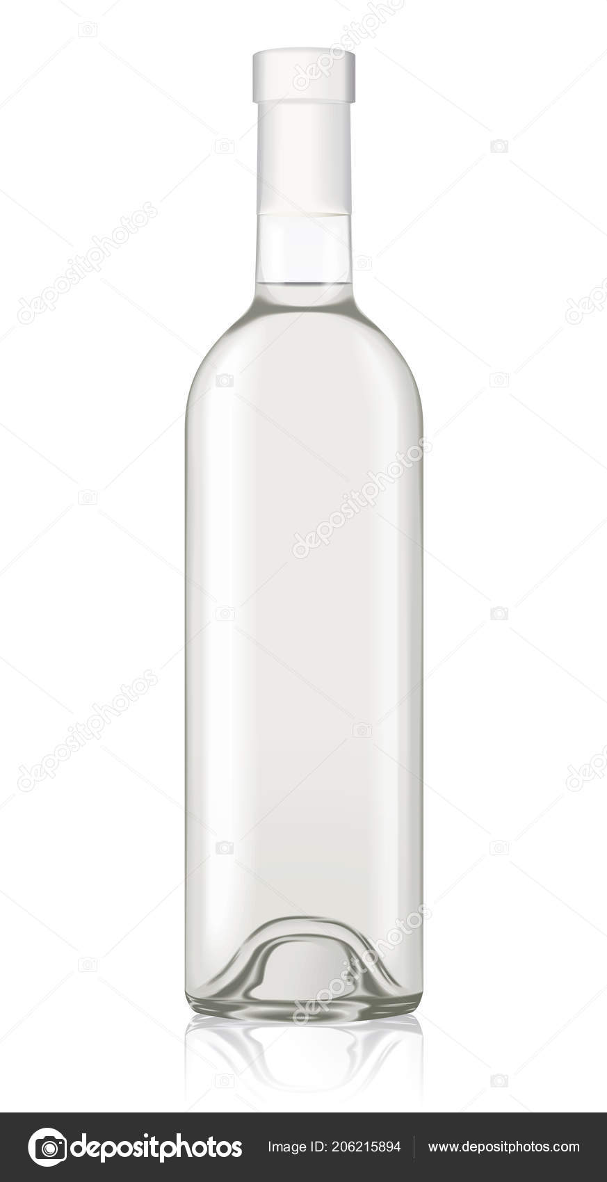 vector wine bottle mockup template isolated drink alcohol beverage